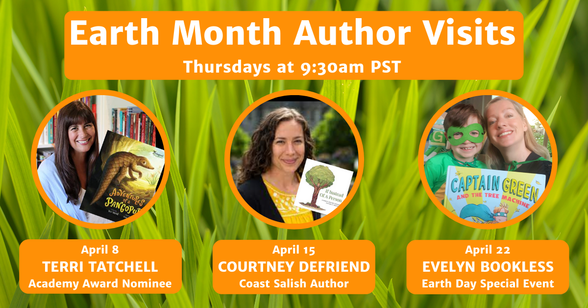 Authors for Earth Month Author Visits