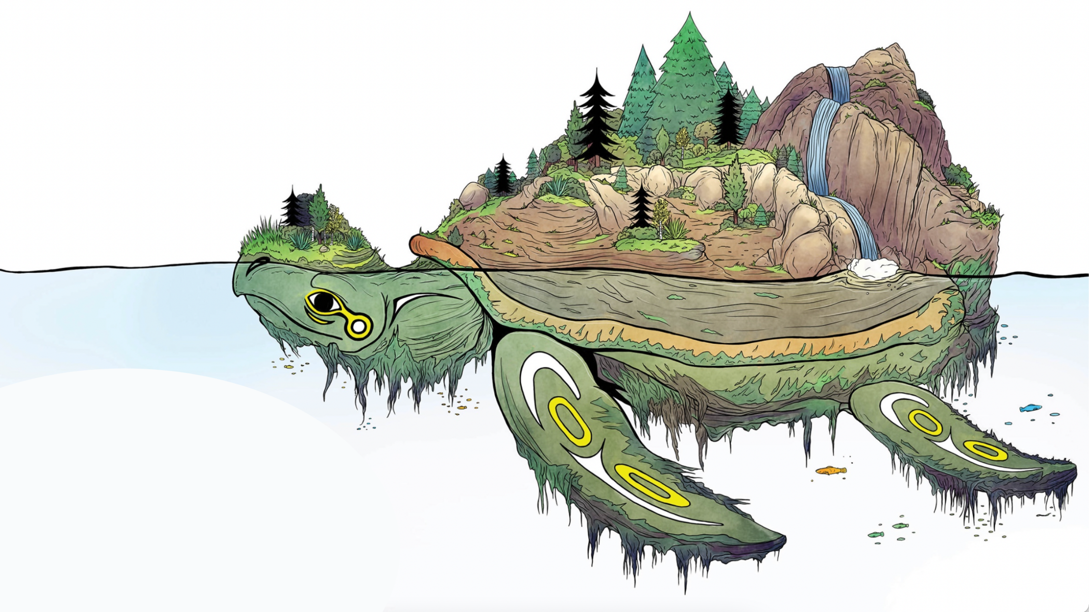 """An image of Turtle Island from the book """"If I Were a Person."""""""