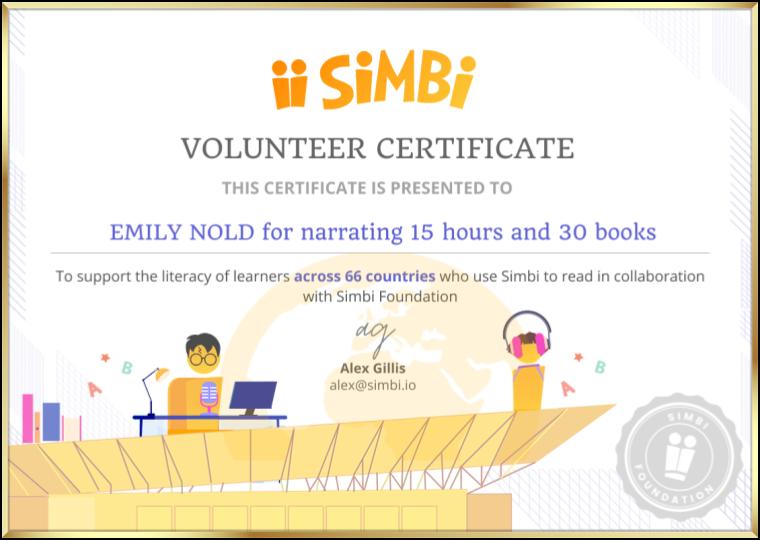 Simbi Volunteer Certificate blank