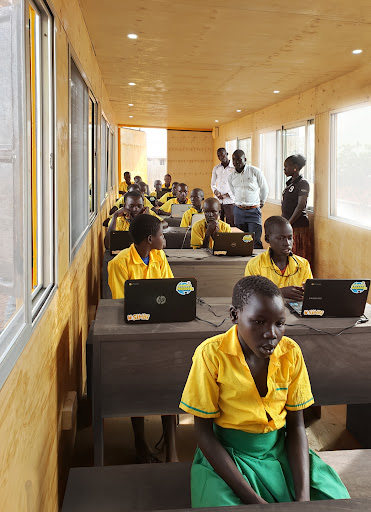 Students in the BrightBox classroom.